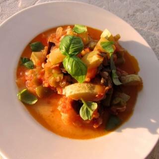 Kabaklı Patlıcanlı Yaz Türlüsü (Ratatouille)