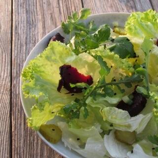 Fırında Kırmızı Pancarlı Salata